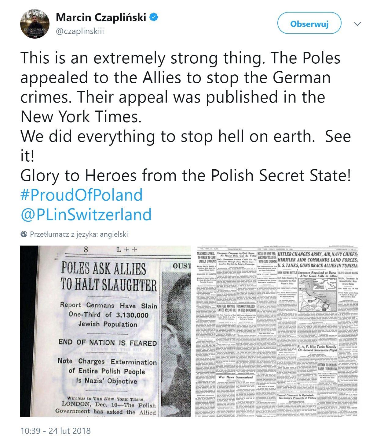konflikt Polska-Izrael