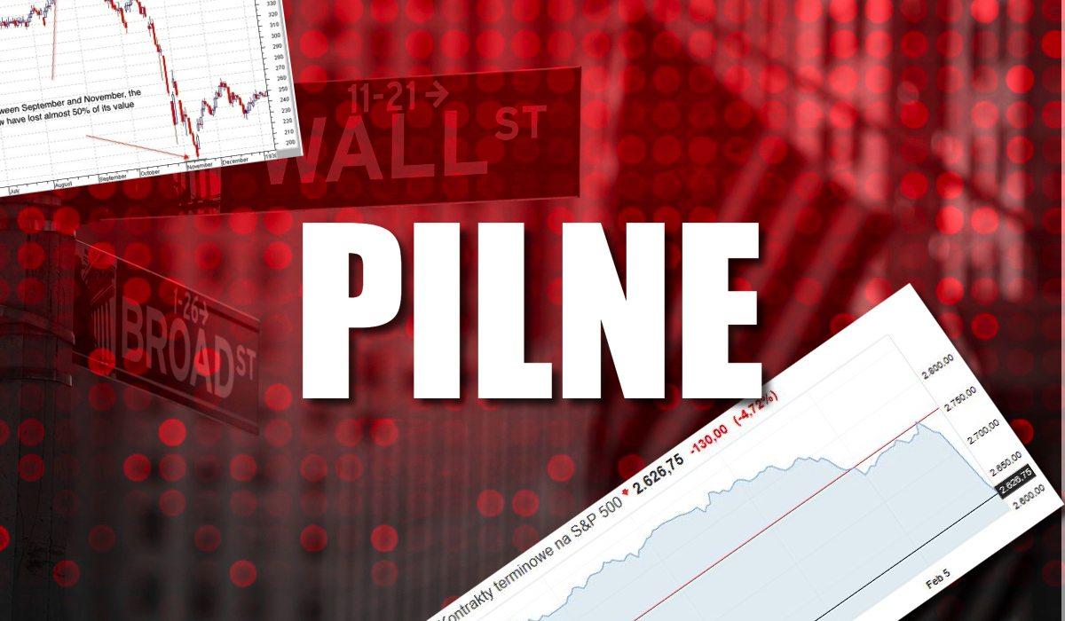 Katastrofa na Wall Street. Największy spadek W HISTORII