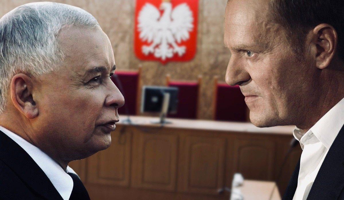 Tusk i Kaczyński w jednym sądzie. Kolosalna różnica w traktowaniu