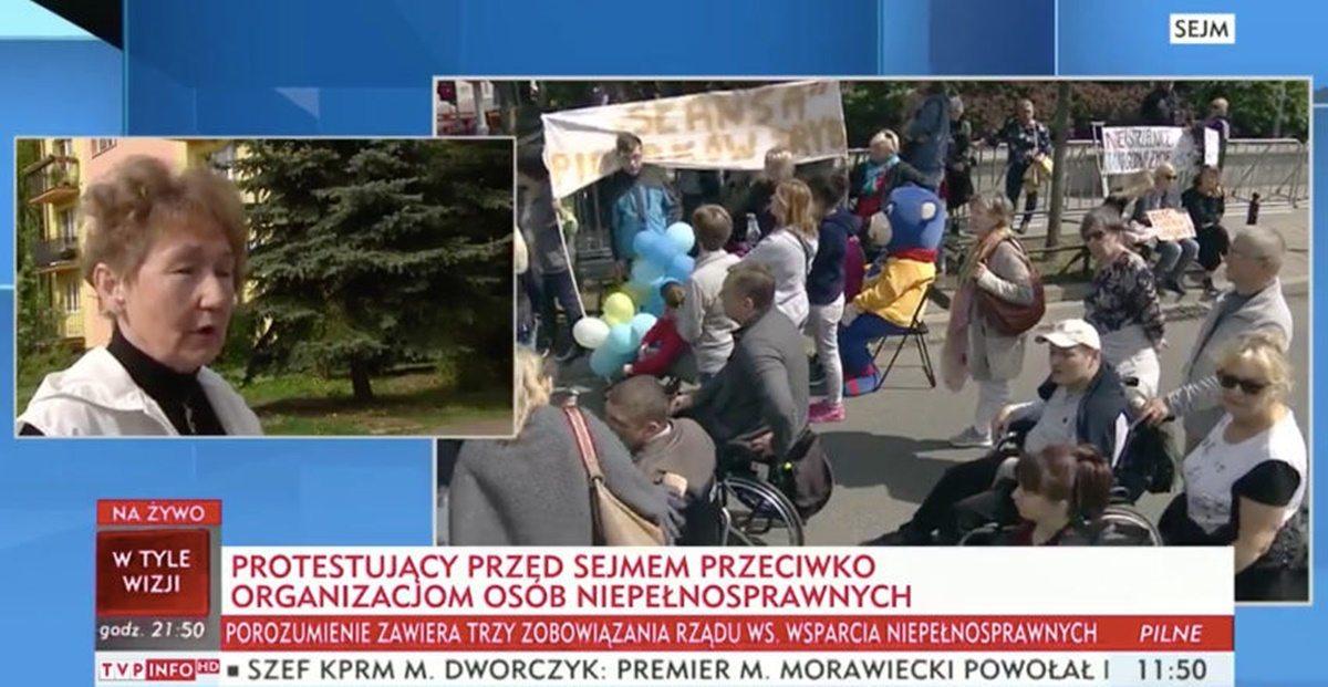 """TVP: """"Polacy chcą zakończenia protestu niepełnosprawnych"""""""