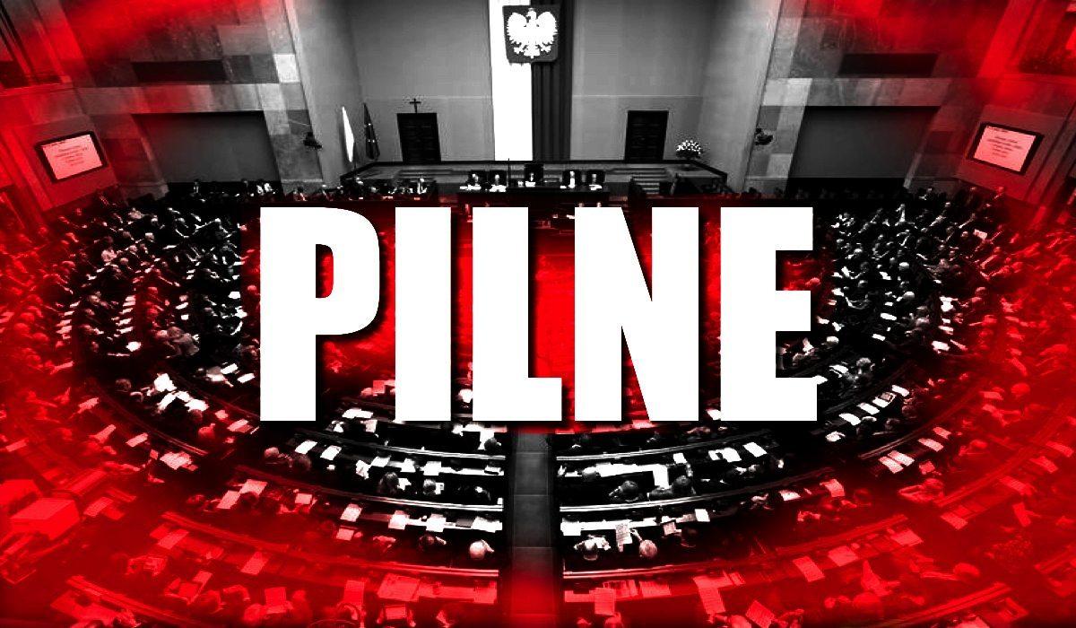 Co się dzieje?! Zwołano nadzwyczajne posiedzenie Sejmu