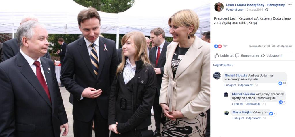 Lech Kaczyński, Andrzej Duda, Kinga Duda, Agata Duda