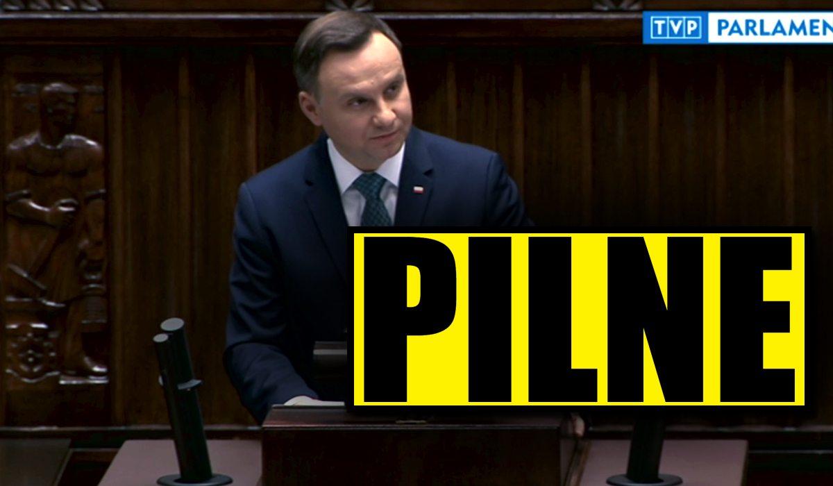 PORAŻAJĄCA decyzja Senatu! PiS skreśla Andrzeja Dudę