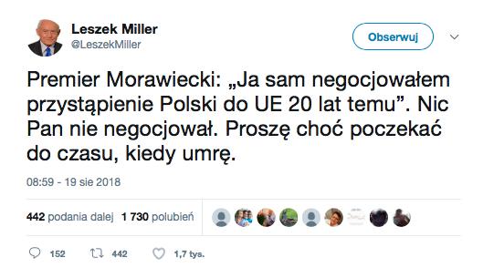 Mateusz Morawiecki i Leszek Miller