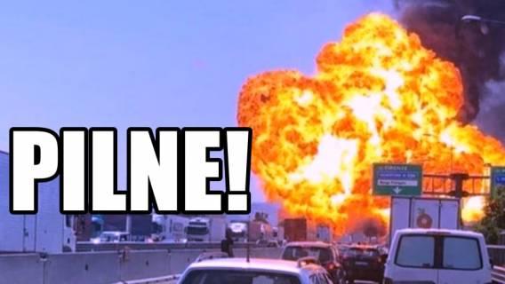 Gigantyczna eksplozja obok lotniska! Słup ognia na kilkadziesiąt metrów
