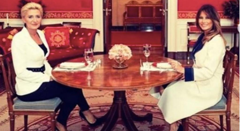 Agata Duda się nie popisała? Ujawniono, o czym rozmawiała z Melanią Trump