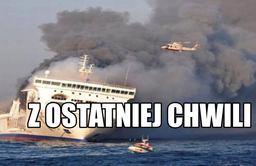 Płonie prom na Bałtyku! Ponad 300 osób na pokładzie