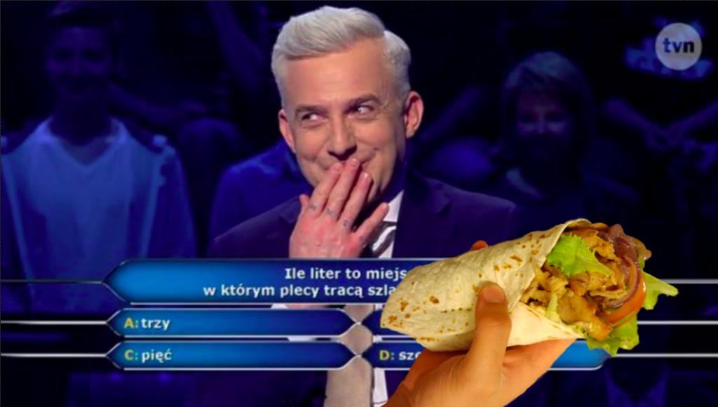 Kebab w Milionerach? Uczestnik już zawsze będzie się palił po tym ze wstydu