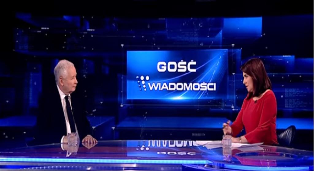 Absurdalna rozmowa Holeckiej i Kaczyńskiego w TVP. Widzowie w ciężkim szoku