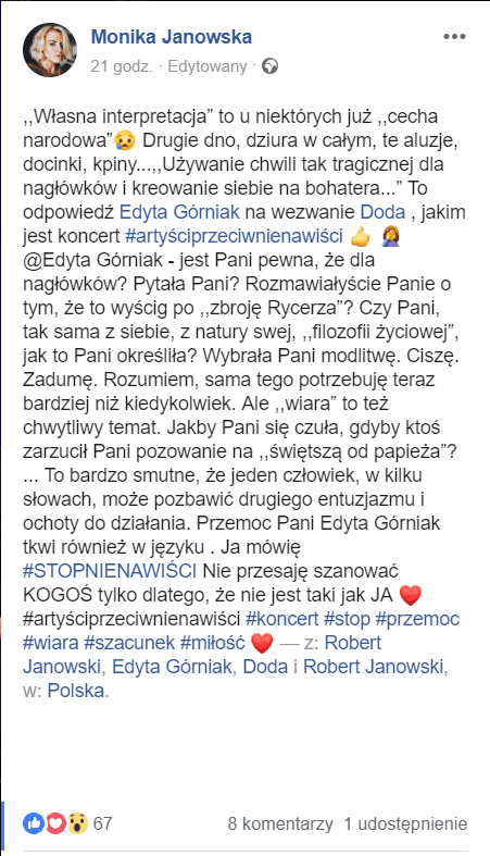 Robert Janowski żona pikio.pl