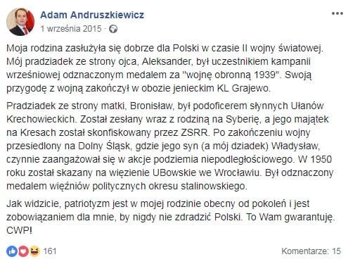 adam andruszkiewicz narzeczona