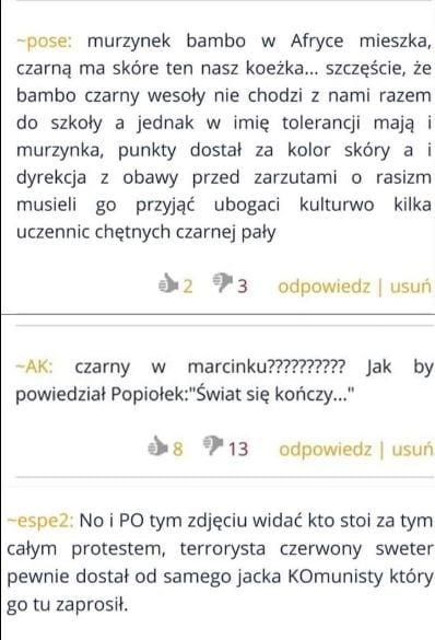Poznań: rasistowska nagonka na czarnoskórego ucznia