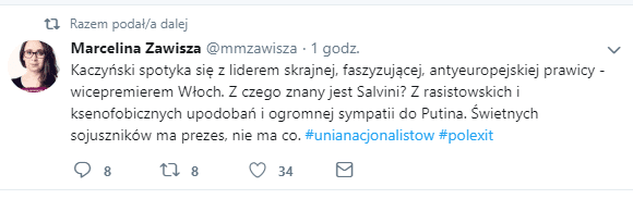 Salvini, Marcelina Zawisza