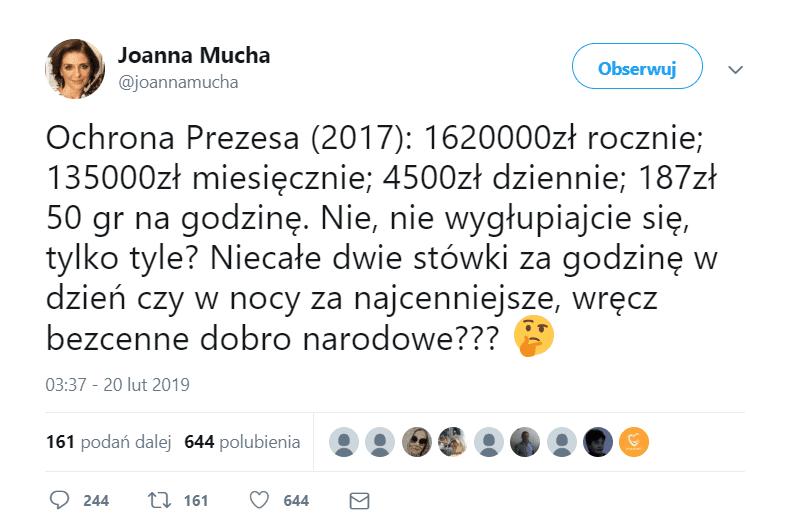 Jarosław Kaczyński Joanna Mucha