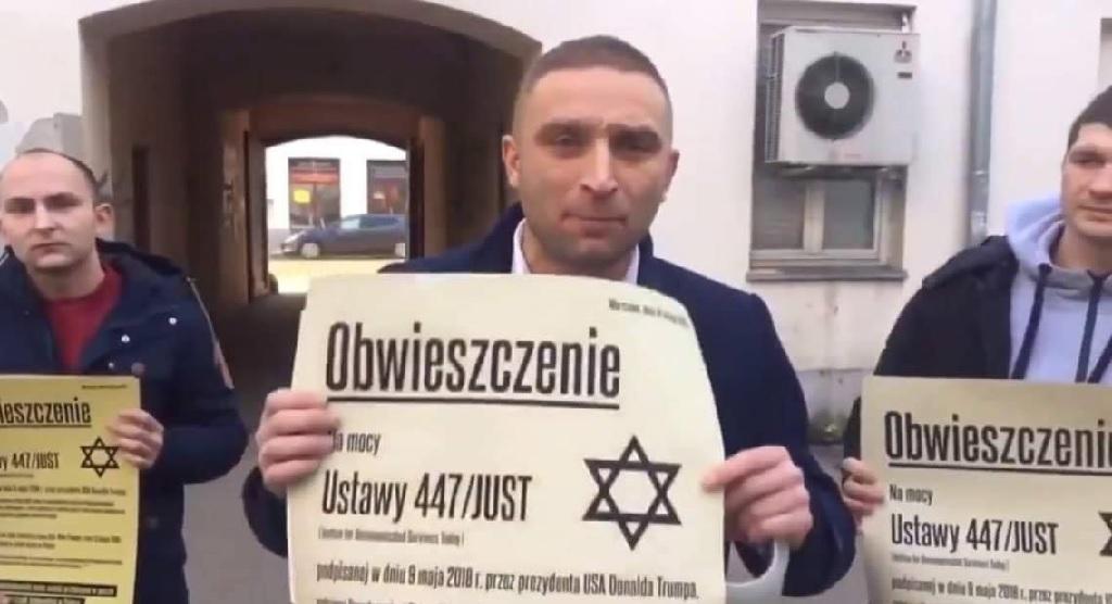 ONR wzoruje się na Hitlerze? Rozklejają obwieszczenia do Żydow jak naziści w getcie