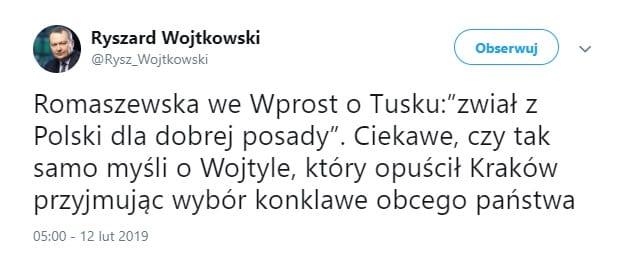 Kontrowersyjny wpis na Twitterze.