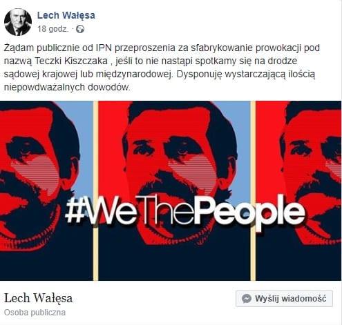 Lech Wałęsa grozi pozwem