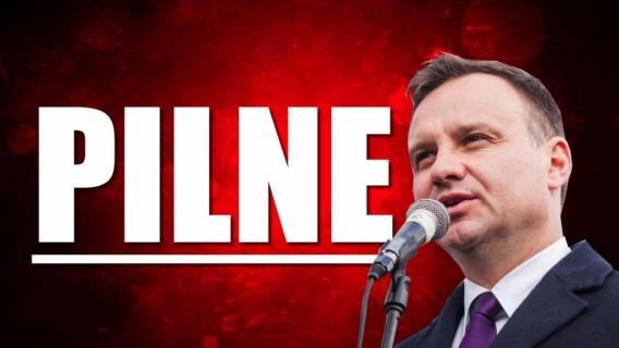 Andrzej Duda miał wypadek? Niepokojące doniesienia, prezydent nagle zniknął