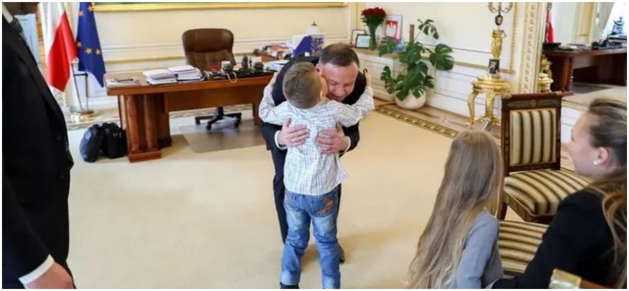 Andrzej Duda spełnił marzenie 7-letniego Kuby chorego na nowotwór