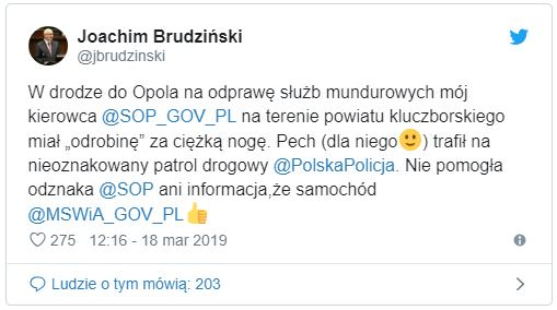 Fot. Twitter/Joachim Brudziński