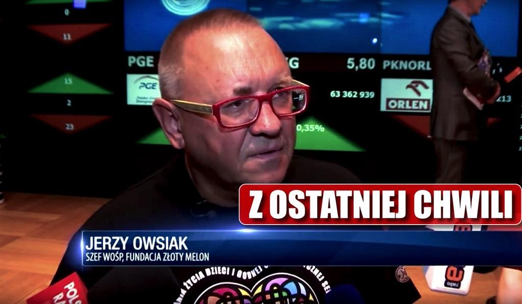 Po miesiącach milczenia Owsiak powiedział, na co pójdą pieniądze z Ostatniej Puszki Pawła Adamowicza