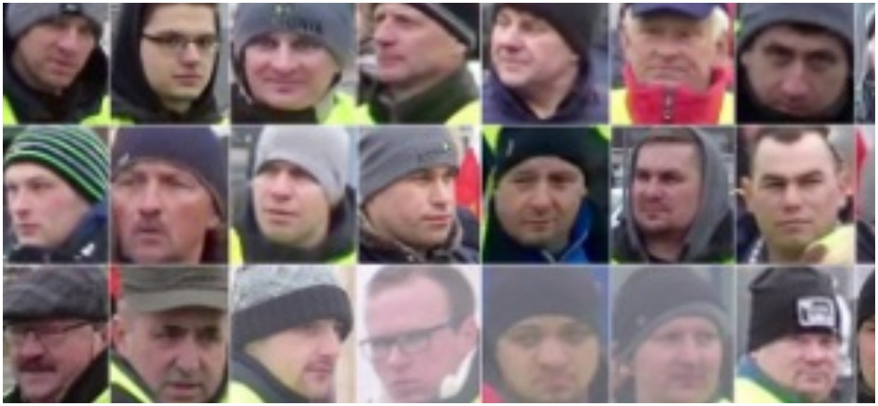 Warszawa - opublikowano wizerunki protestujących rolników