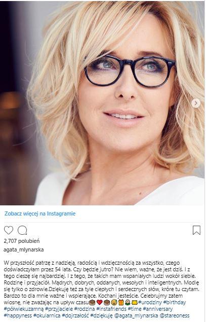 Fot. Instagram/Agata Mlynarska