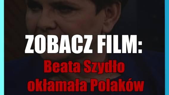 Beata Szydło okłamała Polaków