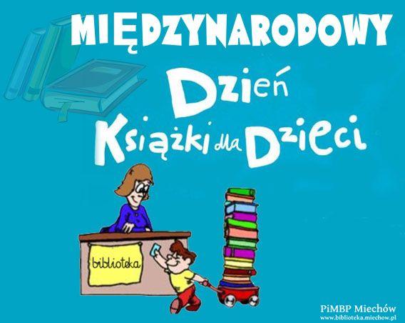 Plakat na dzień książki dla dzieci