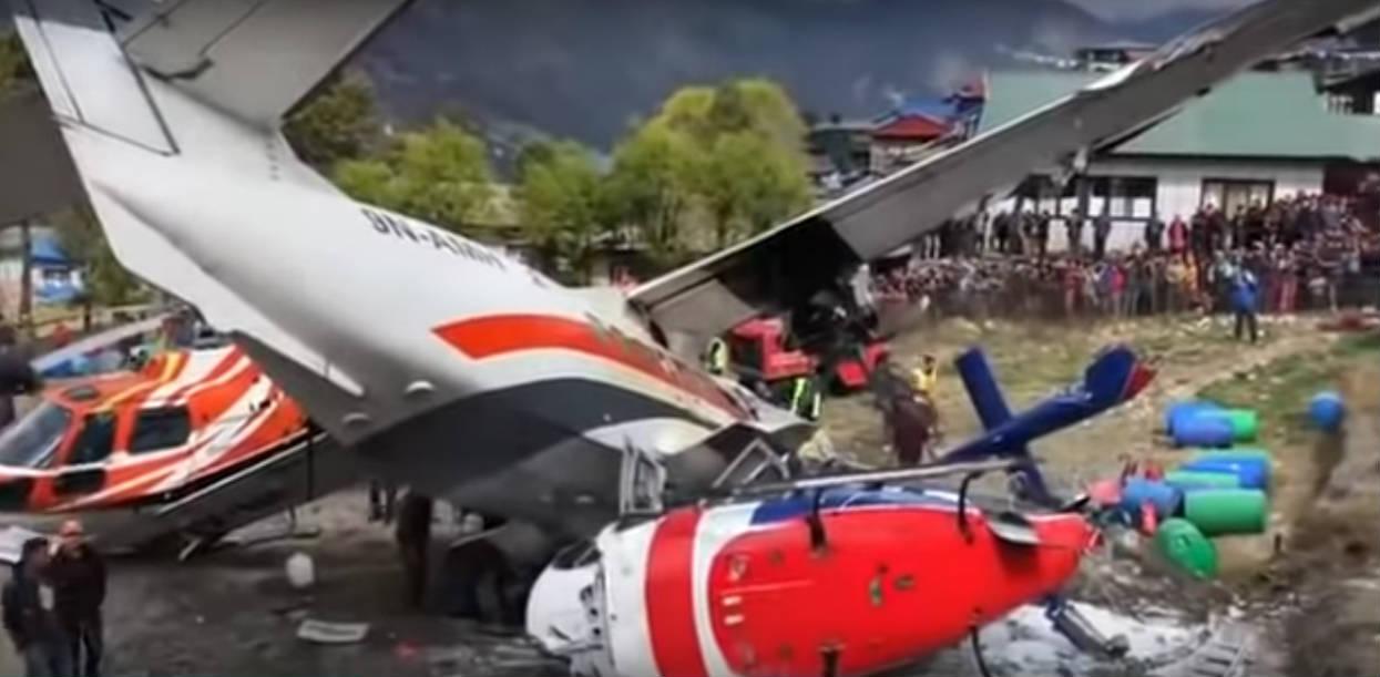 Z ostatniej chwili: Straszna katastrofa lotnicza. Samolot uderzył w helikopter