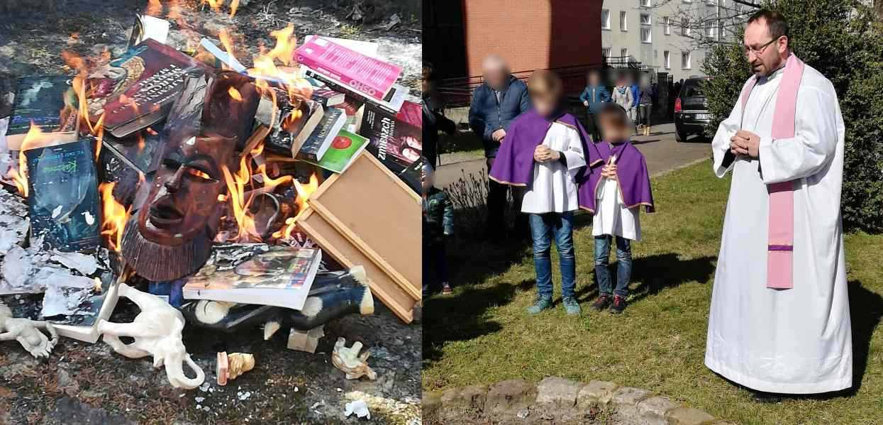 """Światowe media huczą o polskich księżach palących książki. """"To nie żart na prima aprilis"""""""