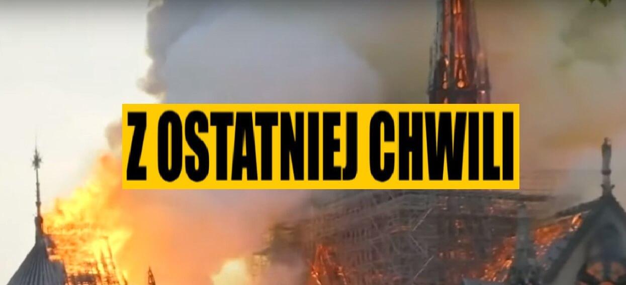 Podano przyczynę pożaru katedry Notre Dame. Śledczy ujawnili
