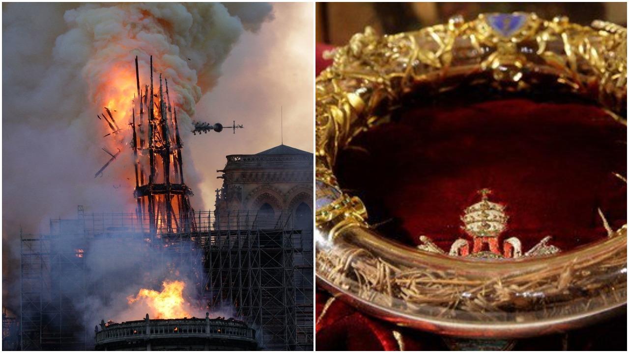 Korona Cierniowa Jezusa uratowana z płonącej katedry Notre Dame!