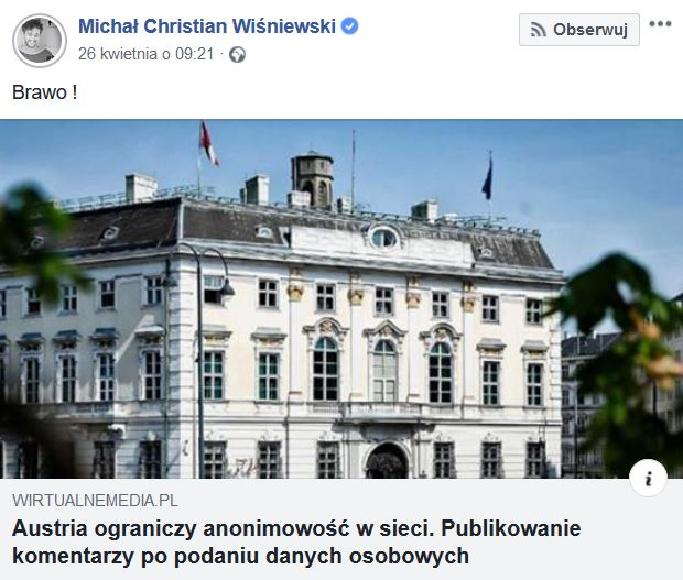 Michał Wiśniewski screen facebook.com