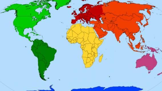 Ile jest kontynentów? Nie zawsze tyle samo.