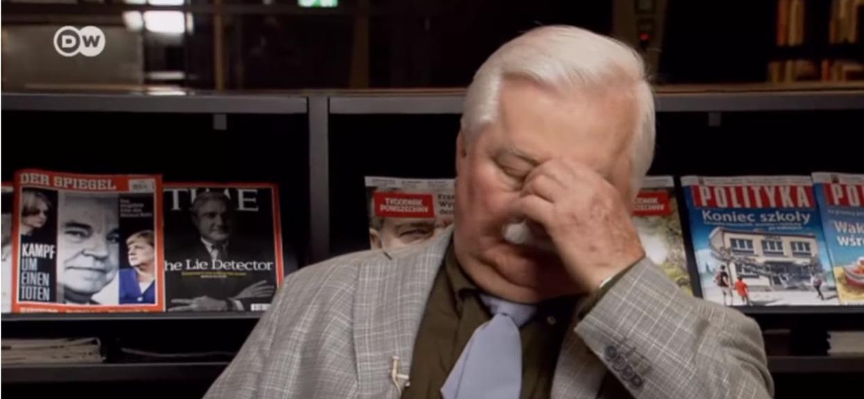 """Lech Wałęsa nie wytrzymał. """"Gdybym wiedział, zrzuciłbym go ze schodów"""""""