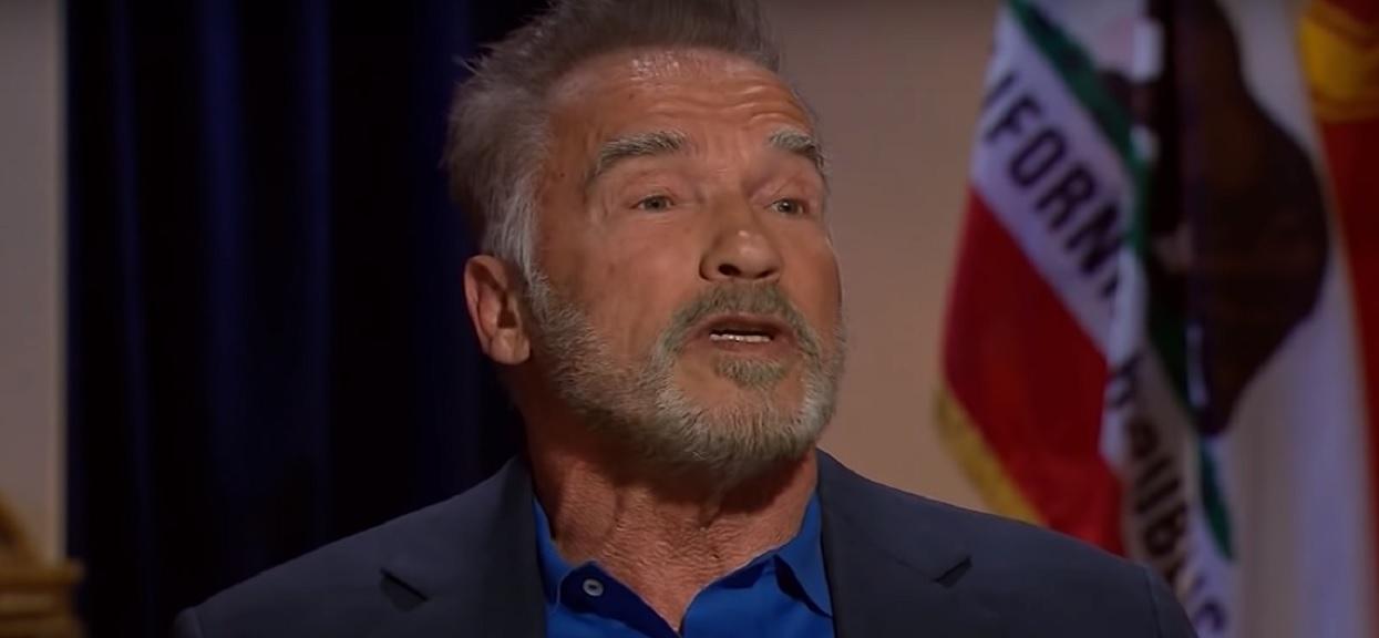 Chciał pobić Arnolda Schwarzeneggera. Nagranie podbija sieć