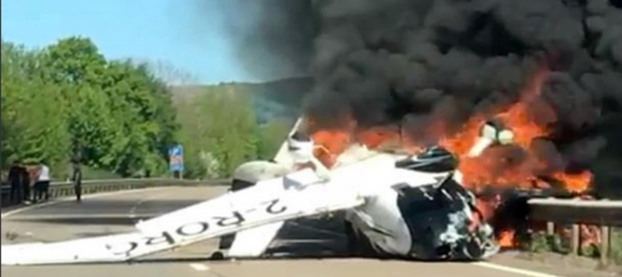 Wydarzył się cud! Katastrofa samolotu, maszyna nagle runęła i stanęła w płomieniach, przeżyli tragedię