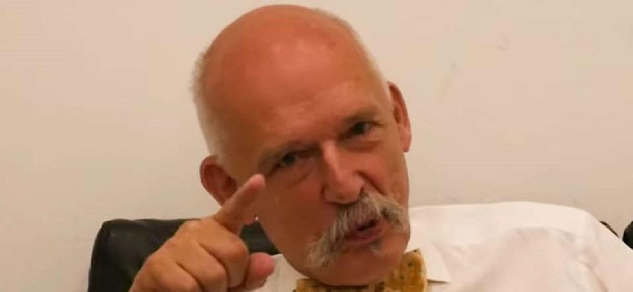Janusz Korwin-Mikke pokazał się wyborcom w samych majtkach. Tego widoku nie wymażecie ze swojej pamięci