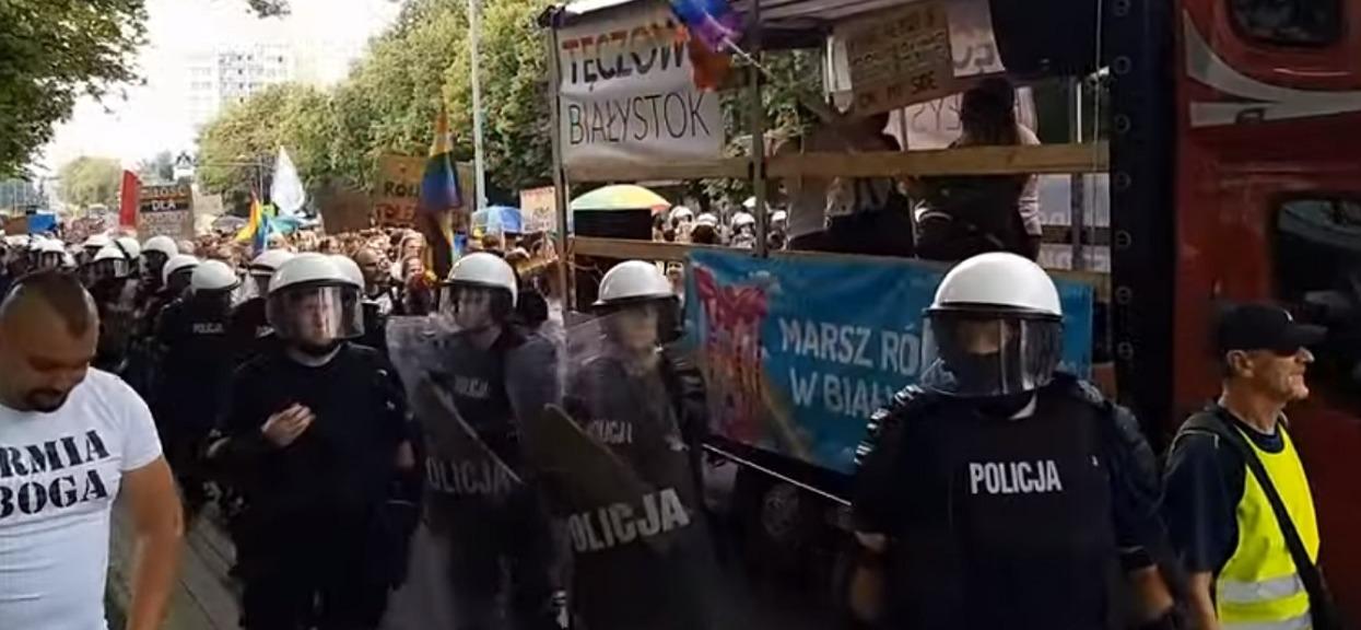 Policja zapowiada surowe konsekwencje po zadymie na Marszu Równości w Białymstoku