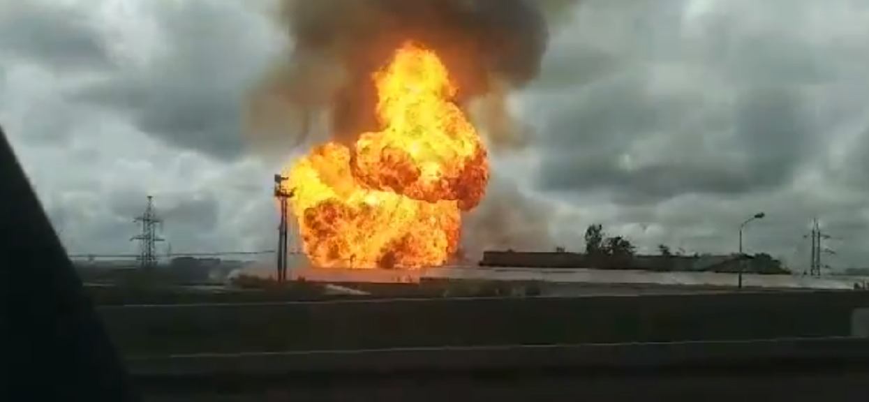 Potężny pożar pod Moskwą. Elektrownia nagle stanęła w ogniu, porażające zdjęcia z miejsca