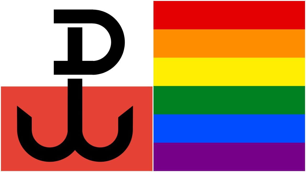 Politycy PiS wściekli na Polskę Walczącą na tle tęczowej flagi. Zapowiadają pozwy