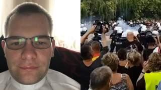 Bezczelny ksiądz twierdzi, że bicie ludzi przez kiboli w Białymstoku to ustawka. Żąda przeprosin