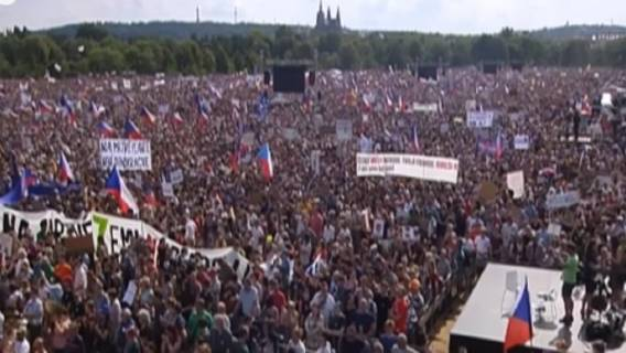 Czechy mierzą się z protestem