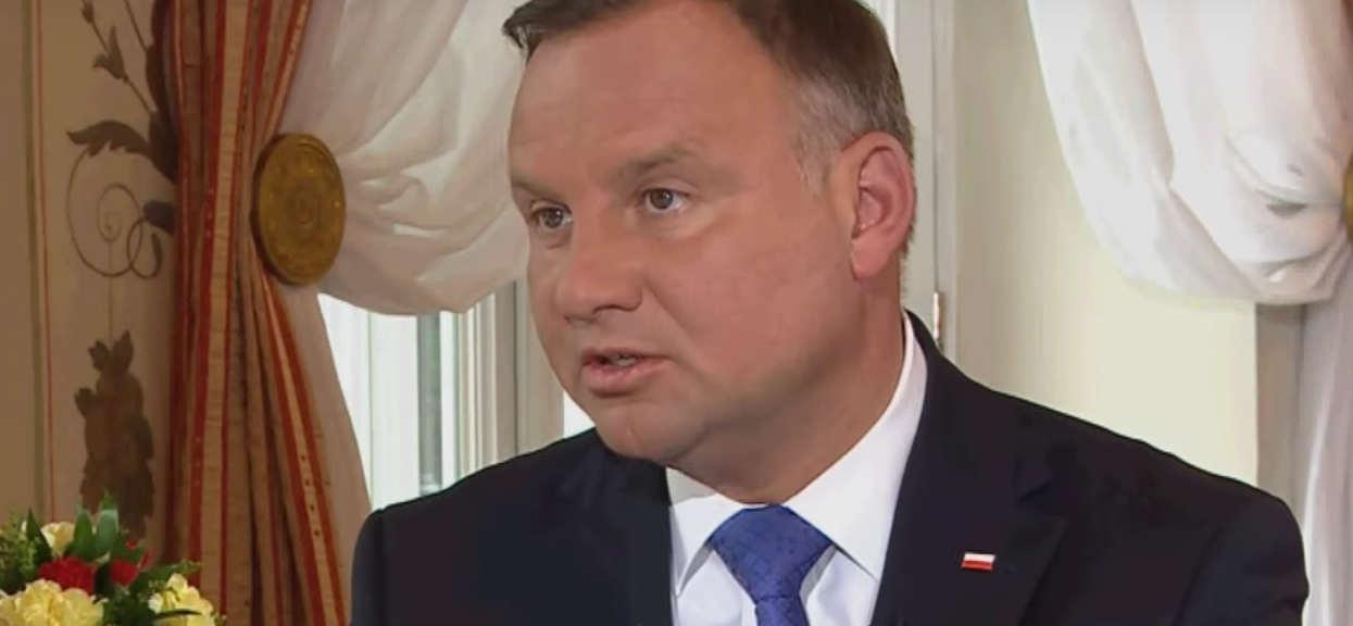 """""""Rzuciłem palenie, nie jestem abstynentem"""". Duda o nałogach w Polsat News"""