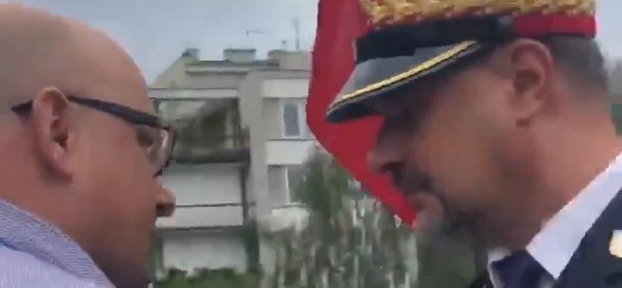 Straż Marszałkowska odpychała niewygodnego dziennikarza. Byleby tylko nie zadał trudnego pytania