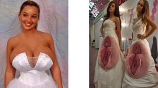 20 najdziwaczniejszych sukien ślubnych, jakie kiedykolwiek stworzono. Są po prostu koszmarne, 14 to za dużo nawet dla nas