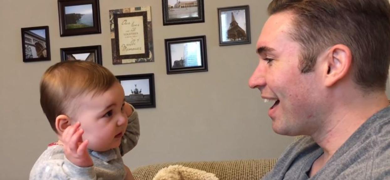 Córeczka pierwszy raz zobaczyła ojca bez ogromnej brody. Nagrana reakcja wywołuje dreszcze