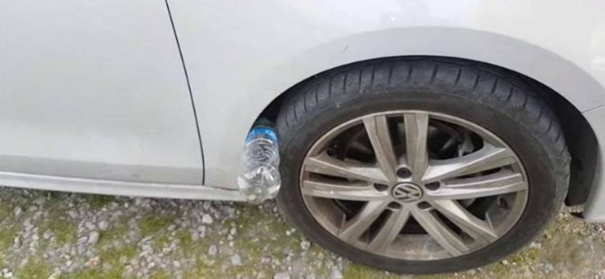 Zobaczyłeś plastikową butelkę przy kole samochodu? Uważaj, niebezpieczeństwo nadciąga