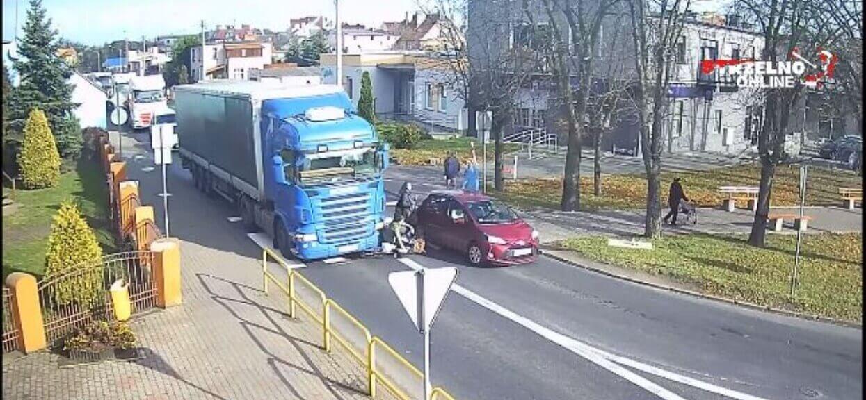 Ciężarówka wjechała w kobietę na pasach. W sieci trwa wielka burza, czyja to wina